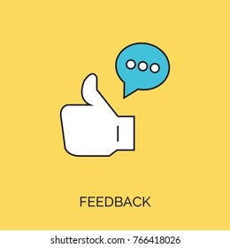 feedback vector thin line icon