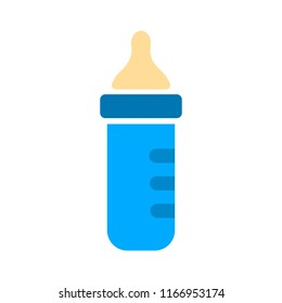Feeding Bottle or Baby bottle for infants and young children vector illustration