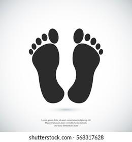 feet icon, vector best flat icon EPS