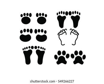 Feet icon vector illustration .