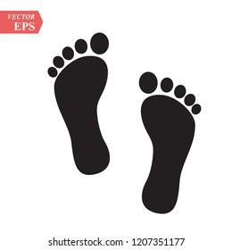 feet icon vector stock vector illustration stock vector royalty free 1207351177 shutterstock