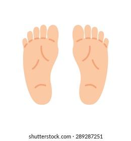 Feet Isolated on white background
