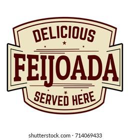 Feijoada sign or stamp on white background, vector illustration