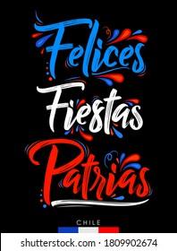 Felices Fiestas Patrias, Felices Fiestas Nacionales texto español, tema chileno de celebración patriótica.