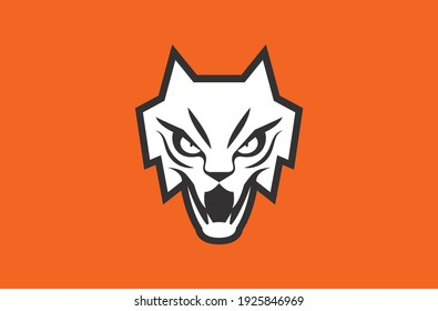 Feline mascot symbol and logo design vector with modern and minimal illustration concept style for badge, emblem and t shirt printing. Angry feline illustration for gaming, sport and e-sport team