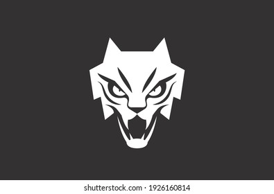 Feline symbol and logo design vector with modern and minimal illustration concept style for brands and products