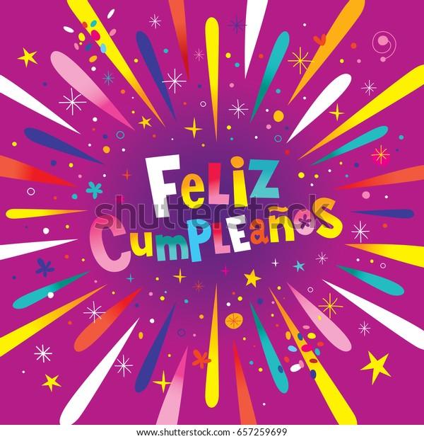 Surprising Feliz Cumpleanos Happy Birthday Spanish Card Stock Vector Royalty Funny Birthday Cards Online Alyptdamsfinfo