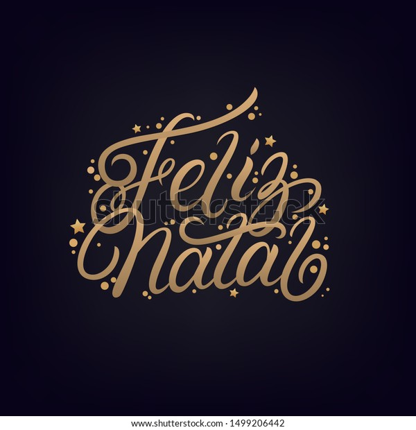 Feliz Natal 2020 Hand Written Lettering Stock Vector