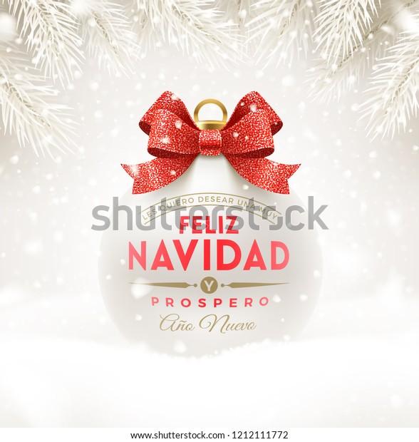 Feliz Navidad Cristmas.Feliz Navidad Christmas Greetings Spanish Christmas Stock