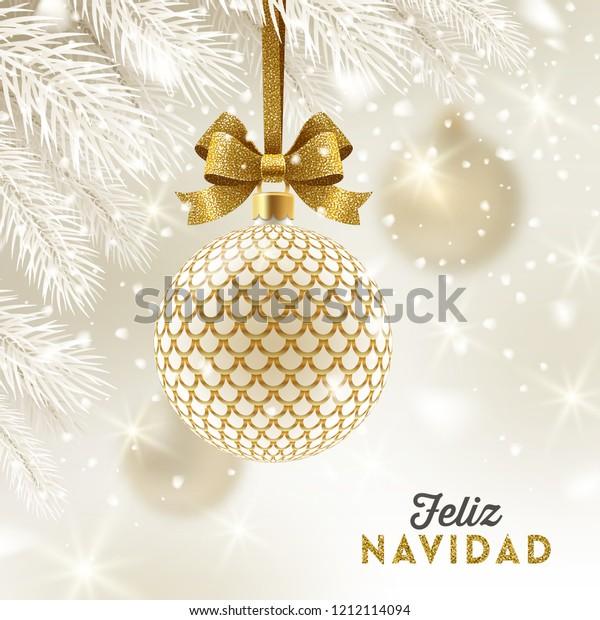 Christmas Wishes In Spanish.Feliz Navidad Christmas Greetings Spanish Patterned Stock
