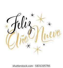 Feliz año nuevo, Happy new year in spanish language