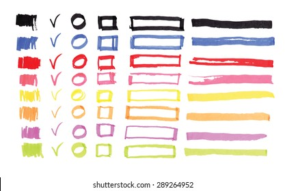 felt pen colorful vector design elements