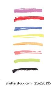 felt pen lines vector design elements