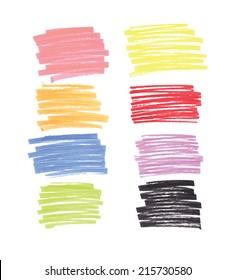 felt pen vector frames design elements