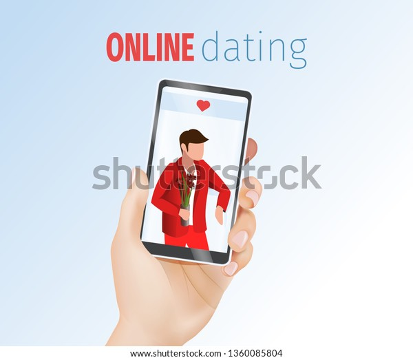 Female 3d Realistic Hand Holding Mobile Stock Vector (Royalty Free