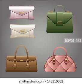 Female bags. vector, gradient, EPS10