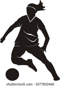 female ball player silhouette icon vector