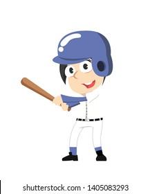 Female Baseball Vector Illustration Design
