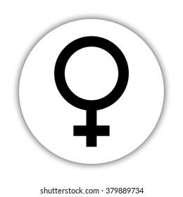 Female  - black vector icon