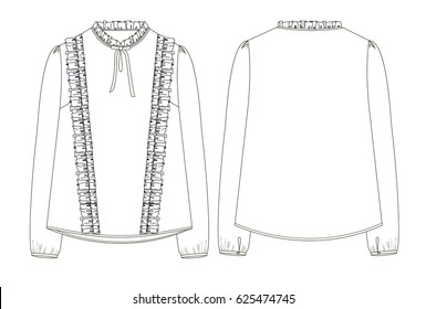 female blouse with Ruffles