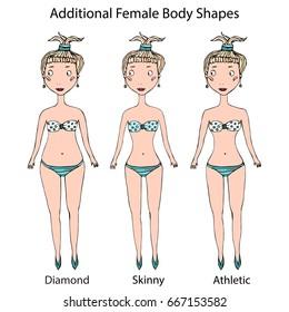 2575c95c2f9 Athletic Body Shape Women Body Type Stock Vector (Royalty Free ...
