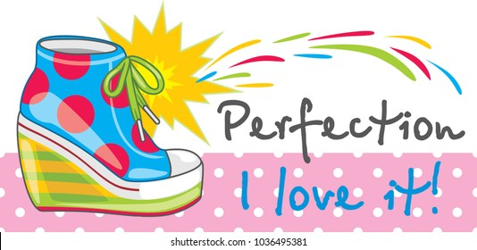 Female bright trendy sneakers. Banner for design. Vector