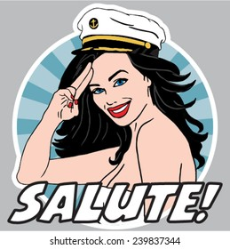Female captain salute