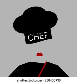 female chef with black outfit