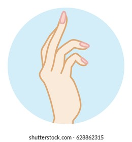 Female Clean hand Illustration -Side view