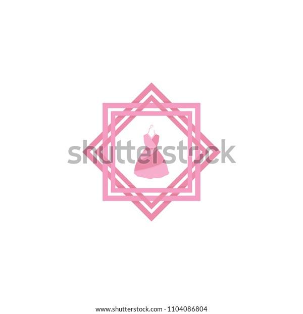 female clothes logo template