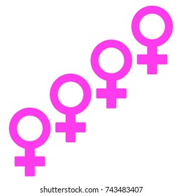 Female Cohort Symbol flat vector pictograph. An isolated icon on a white background.
