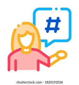 female discontent icon vector. female discontent sign. color symbol illustration