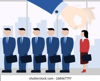 Female discrimination at work