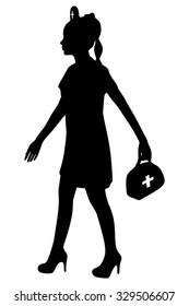 female doctor walking