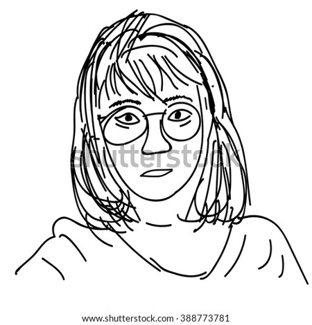 female face draw sketch vector illustration stock vector royalty 1700s Scientist female face draw sketch vector illustration
