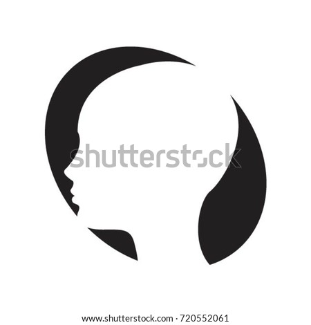 female face side view inside oval stock vector royalty free