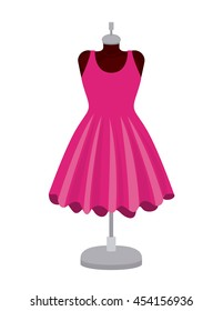 female fashion dress isolated icon design