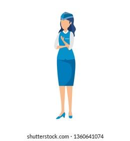 female flight attendant avatar character