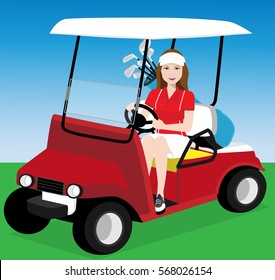 female golf player