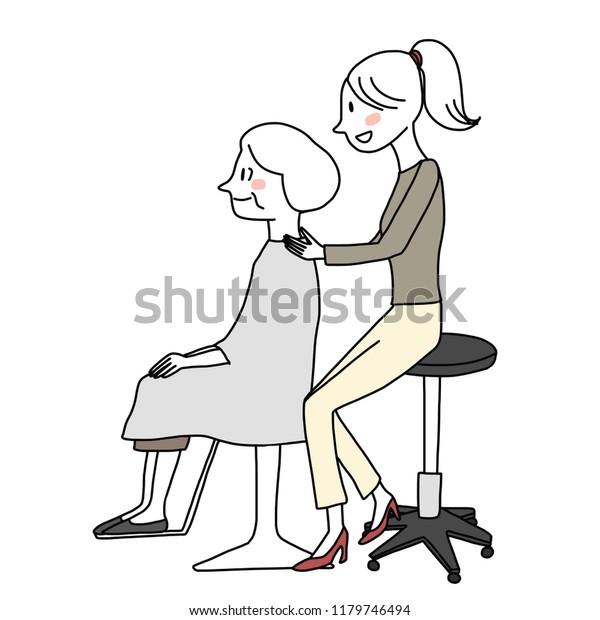 Astounding Female Hairdresser Setting Senior Female Clients Stock Download Free Architecture Designs Rallybritishbridgeorg