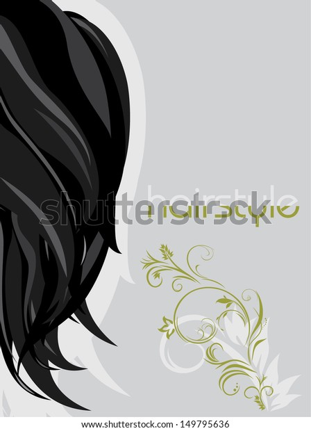 female-hairstyle-background-design-vecto