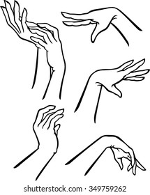 Female Hand Gestures-Variation of elegant hand set