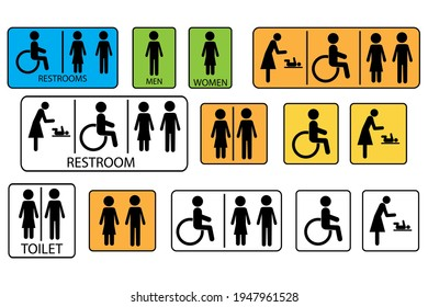 Female hand. man woman disabled child. Vector icon. Female symbol. Stock image. EPS 10.