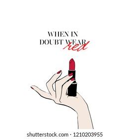 Lipstick Quotes Images, Stock Photos & Vectors   Shutterstock