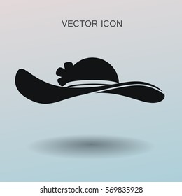 Female hat icon. vector illustration