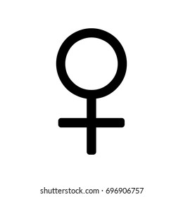 Female icon ,black sign design