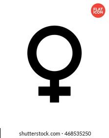 Female Icon Flat Style Isolated Vector Illustration