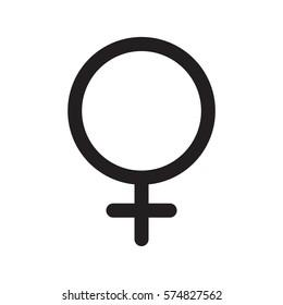 Female icon isolated on white background. Vector illustration.