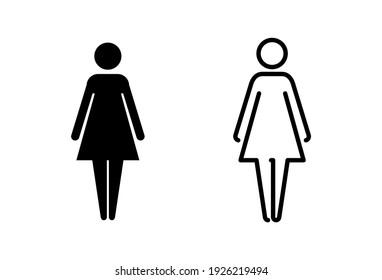 Female icon set. woman icon vector