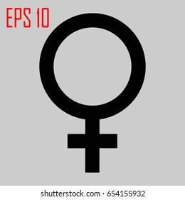 Female icon - vector illustration